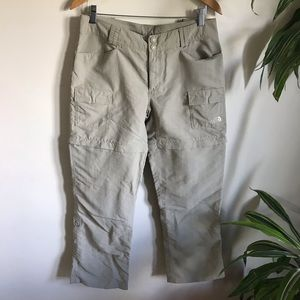 The North Face Convertible Zip Off Trail Pants Tan Size 10